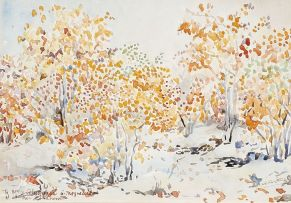 Walter Battiss; Autumn Trees