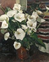 Terence McCaw; Still Life with Arum Lilies