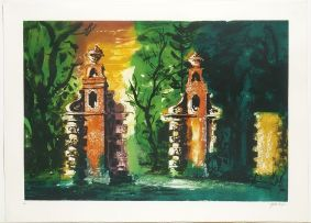 John Piper; Blenheim Gates