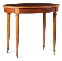 A bird's-eye maple and walnut occasional table, late 19th century