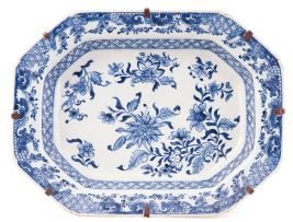 A Chinese blue and white dish, Qing Dynasty, Qianlong (1735-1796)