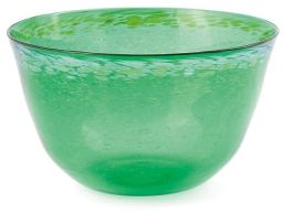A green and aventurine glass bowl, Gary Thompson, 1993