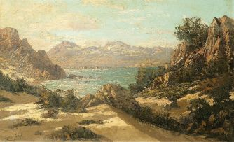 Tinus de Jongh; A View of the Coast, Cape