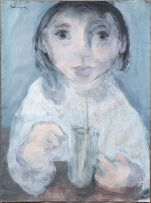 Jean Welz; Young Girl with a Milkshake