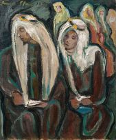 Irma Stern; Two Seated Arabs