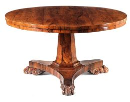 A Regency rosewood centre table
