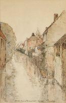 Jacob Hendrik Pierneef; Bruges, Quai du Pont de la Clef