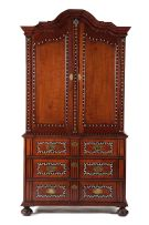 A Cape teak, cedarwood and inlaid armoire, 18th century