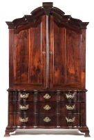 A Cape stinkwood armoire, late 18th/early 19th century