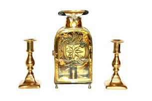 A brass lantern, 19th century