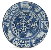 A Japanese Arita blue and white dish, second half 17th century