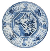 A 'Kraak-porcelein' blue and white dish, 17th century