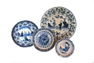 A Chinese blue and white dish, Kangxi (1662-1722)