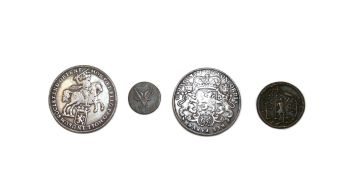 Holland, VOC, two ducatoons (silver riders) 1739