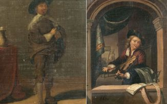 European School 19th Century; The Violinist
