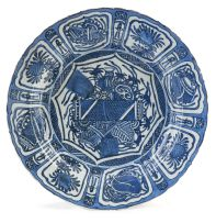 A 'Kraak-porcelein' blue and white dish, 17th century