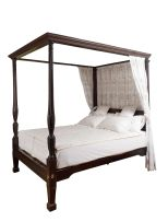 An American Honduran mahogany four-poster bedstead, South Carolina, late 18th/early 19th century