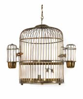 A Dutch brass birdcage, 19th century