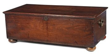 A Colonial Indian rosewood kist, 19th century