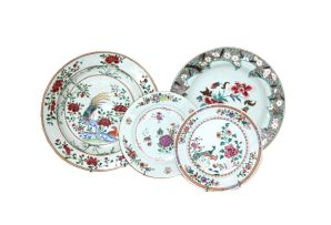 Two Chinese Famille-Rose dishes, Qing Dynasty, 18th century