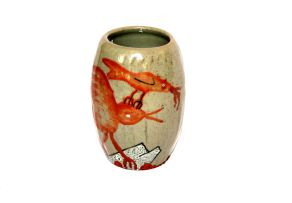 A Hylton Nel stoneware vase, signed