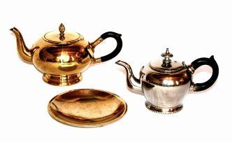 A Dutch brass teapot
