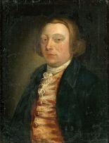 English School 18th Century; Portrait of a Gentleman in a Blue Coat