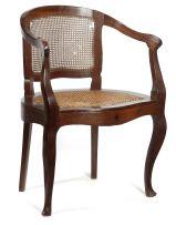 A stinkwood tub chair, early 20th century