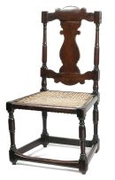 A Cape stinkwood and teak side chair, 18th century