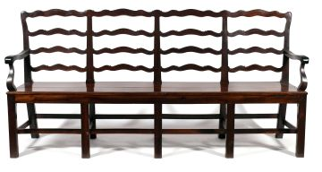 A Cape stinkwood four- chair- back settee, 18th century