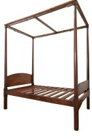 A Cape teak and witels four-poster bed, late 19th century