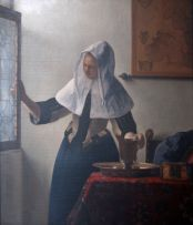 After Johannes Vermeer; Young Woman with a Water Pitcher