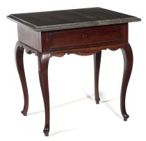 A Cape stinkwood and Robben Island slate-top table, 18th century
