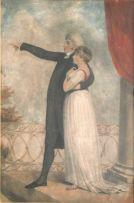 English School 19th Century; A Loving Couple