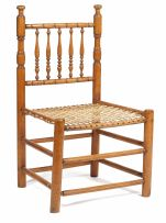 A Cape fruitwood tolletjie chair, early 19th century