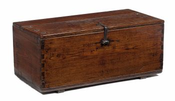 A Korean teak document chest, late 19th century