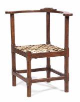 A Cape stinkwood corner chair, late 19th century