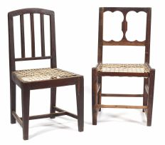 A Cape stinkwood and tamboti side chair, 19th century