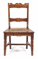 A kareewood Victor or Fichter side chair, Laingsburg district, circa 1880