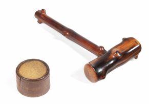 A South African yewwood gavel, 20th century