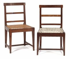 Two Overberg stinkwood side chairs, 19th century
