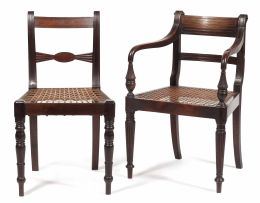 An Anglo Indian rosewood 'Raffles' armchair, 19th century