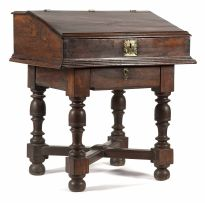 A Dutch Colonial hardwood Bible desk-on-stand, 19th century