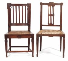 A Cape stinkwood and teak Neo-classical side chair, early 19th century