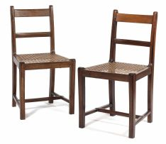 A pair of Cape stinkwood Regency side chairs, 19th century
