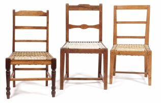 An Overberg teak and oak side chair, 19th century