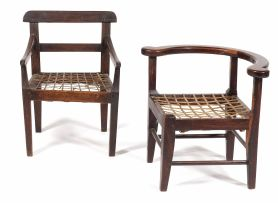 A Cape child's stinkwood corner chair, late 19th/early 20th century