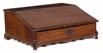A Colonial Indian rosewood Bible desk, 19th century