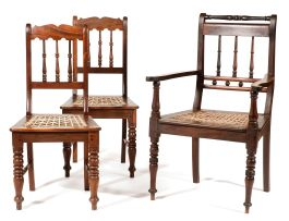 A stinkwood Volkwyn armchair, late 19th/early 20th century