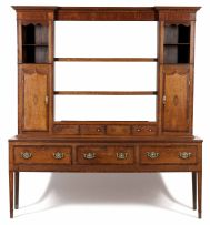 An oak and inlaid dresser, late 18th/early 19th century